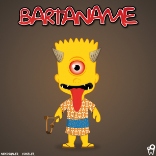 William Bichet : Bart Simpson (yokai) - nekosan.fr