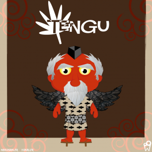 William Bichet : Tengu (yokai) - nekosan.fr